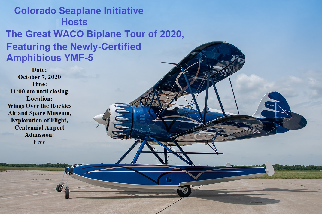 Date: October 7, 2020 Time: 11:00 am until closing Location: Wings Over the Rockies Air and space Museum, Exploration of Flight, Centennial Airport. Admission: Free